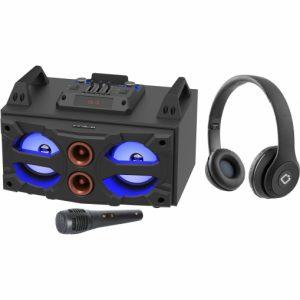 Altavoz Inalámbrico bluetooth con auriculares y micrófono