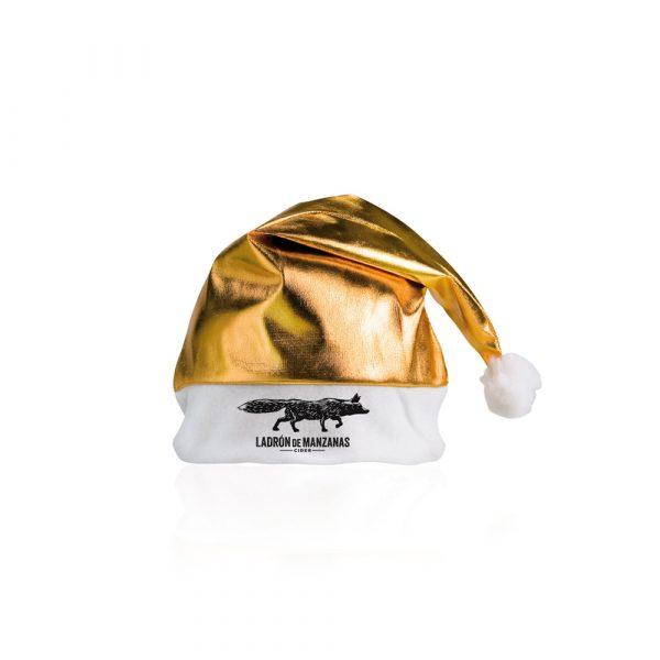 gorro de navidad dorado