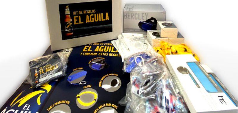 Kit promocional cerveza El Águila