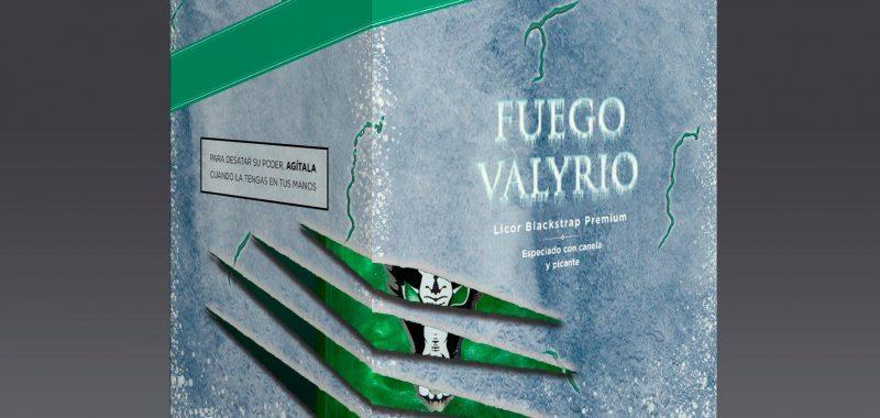 Montaje 3d Packaging botella de Fuego Valyrio